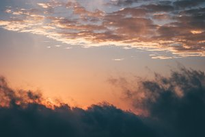 Sunset Sky over clouds Landscape