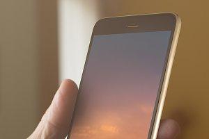 Smart phone PSD Mockup