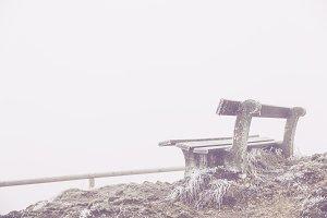 peak summit view bench