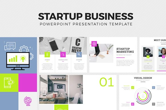 Startup business template presentation templates creative market startup business template presentations accmission Gallery