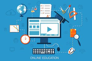 online education background concept