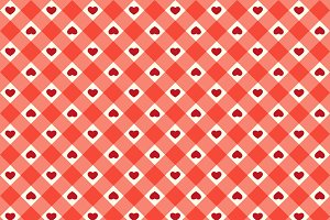 Cute retro pattern with hearts