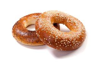 Fresh wheat ring bagel