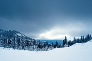 Mountain top landscape