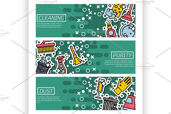 Banners About Cleaning