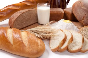 Fresh bread bakery products
