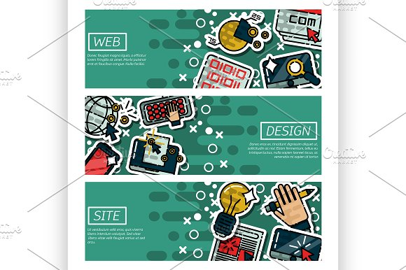 Banners about web design