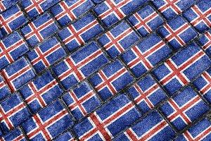 Iceland Flag Urban Grunge Pattern