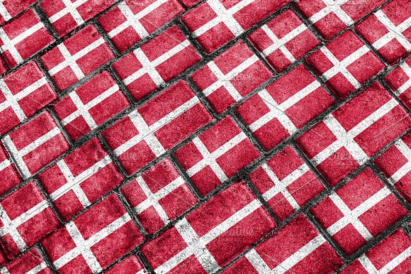Denmark Flag Urban Grunge Pattern