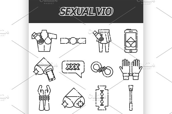 Sexual Vio Icons Set