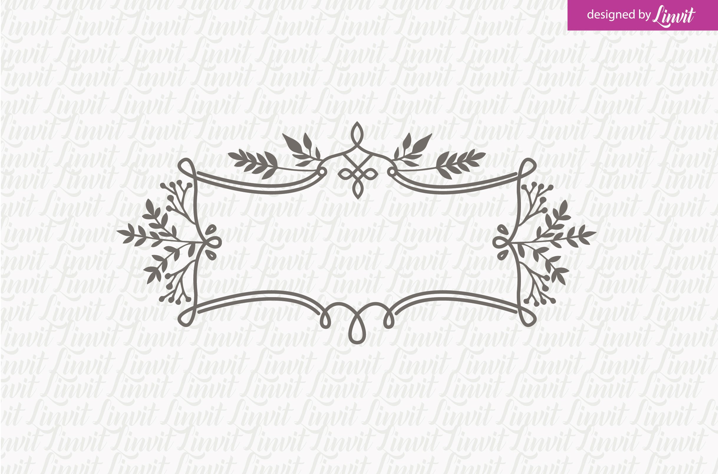 Floral Wedding Logo ~ Logo Templates ~ Creative Market