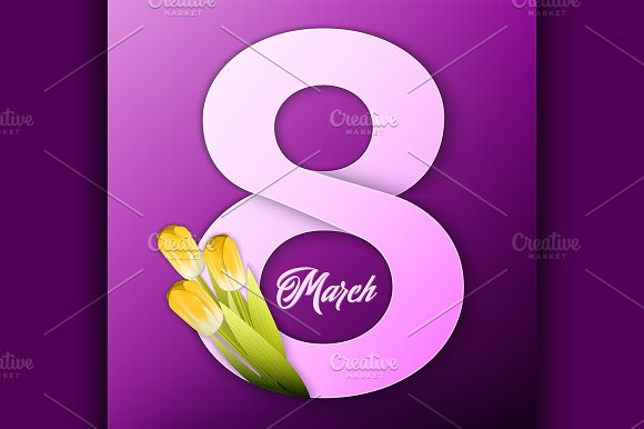 Vector womens day background