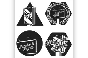 Vintage advertising agency emblems