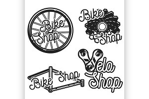 Vintage bike shop emblems
