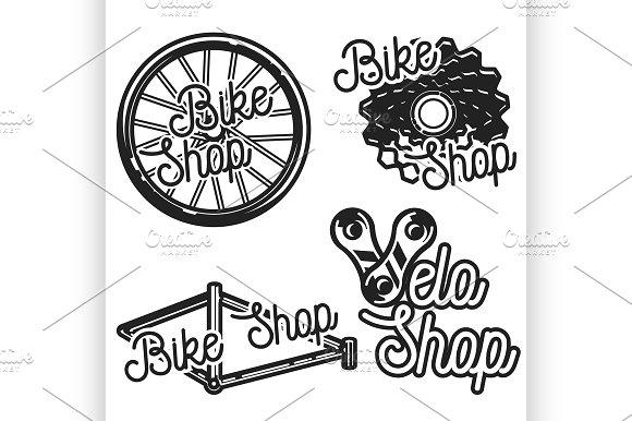 Vintage Bike Shop Emblems