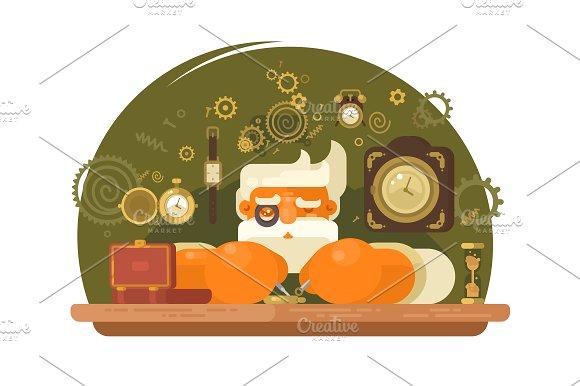 Watchmaker Repairing Clock