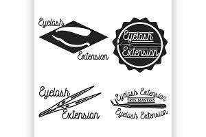 Vintage eyelash extension emblems