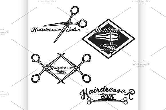 Hairdresser Salon Emblems