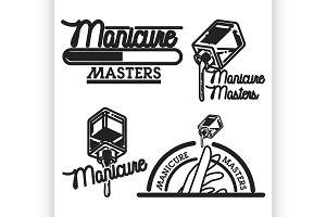 Vintage manicure emblems