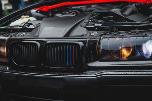 Tuned car engine