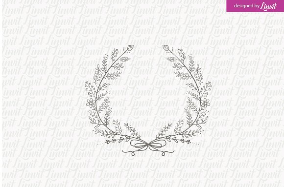 Laurel Wedding Logo Monogram