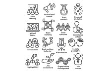 Business management icons. Pack 21.