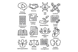Business management icons. Pack 22.