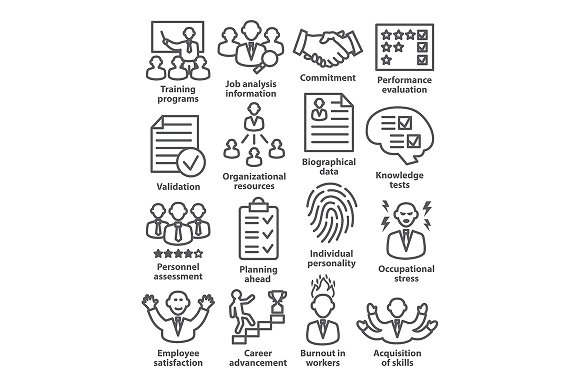 Business Management Icons Pack 23