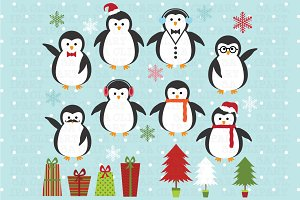 Christmas Penguin Clipart
