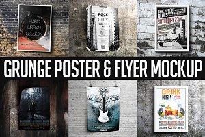 Grunge Poster & Flyer Mockup