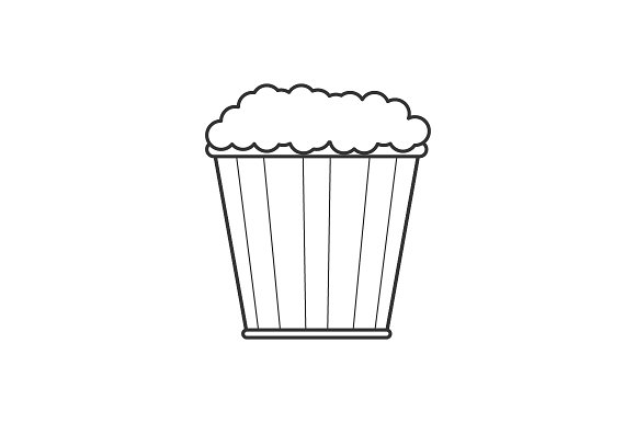 Pop Corn Line Icon