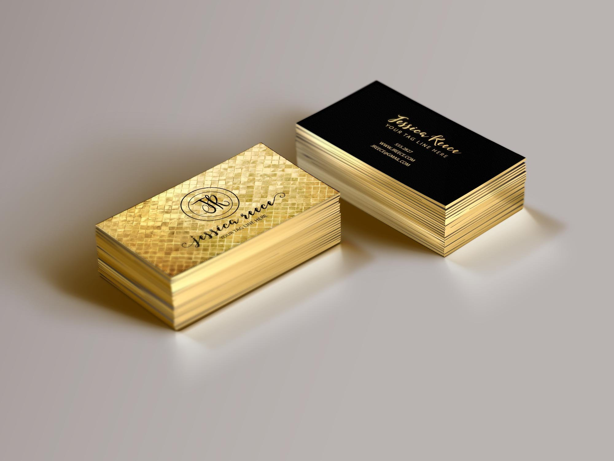 gold foil business card template business card templates creative market - Gold Foil Business Cards