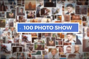 100 Photo Show (After Effect)