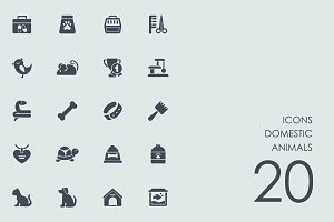 Domestic animals icons