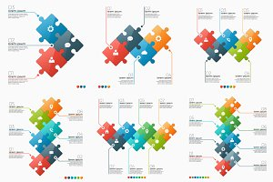 Infographic puzzle sections