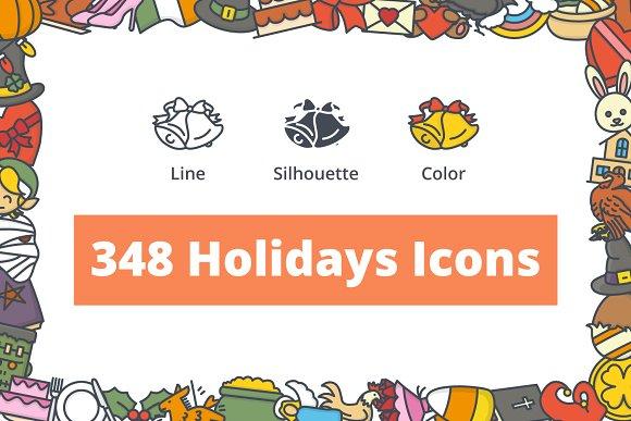 348 Holidays Icons
