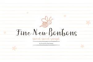 Fine New Bonbons font family