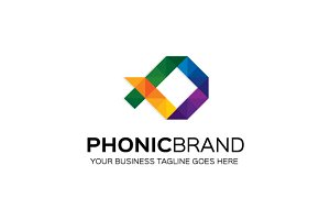 Phonic brand Logo Template