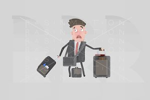 3d illustration. Business suitcase