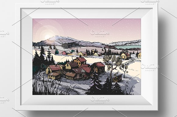 Artistic Winter Nature Landscape