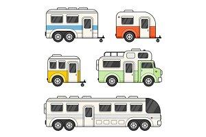 Caravan Camping Trailer Set