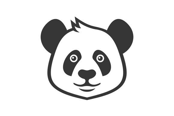 Cartoon Style Panda Icon Set