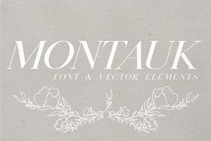 Montauk | Serif + Bonus Vectors