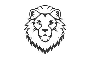 Lion Head Logo Set