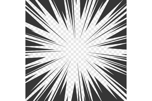 Comics Book Radial Speed Lines