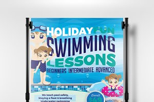 A3 Swimming Pool Poster Template