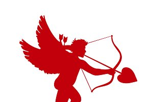 icon of cupid. Valentine's Day