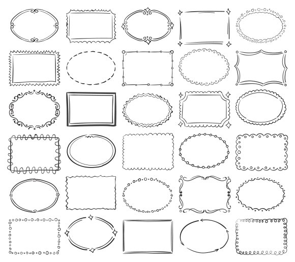 Doodle Round And Square Frames