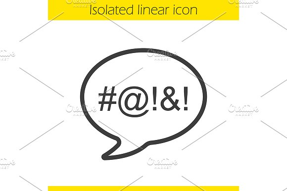 Dirty Language Icon Vector