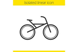Bike icon. Vector